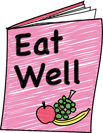 Book cover with title 'Eat Well'