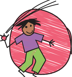 Image of child catching/throwing