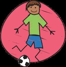 Image of child kicking a ball