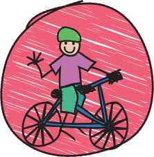 Image of child on bike