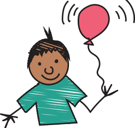 Image of child with balloon