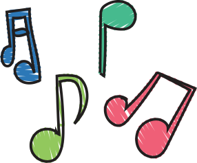 Image of musical notes