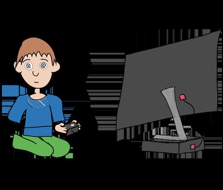 Boy Playing Computer