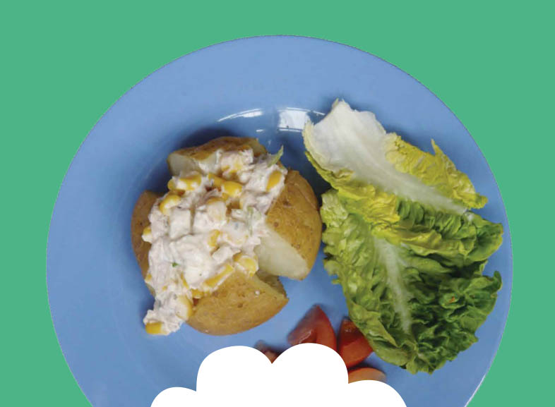 Jacket Potato with Tuna, Sweetcorn and Soft Cheese Image