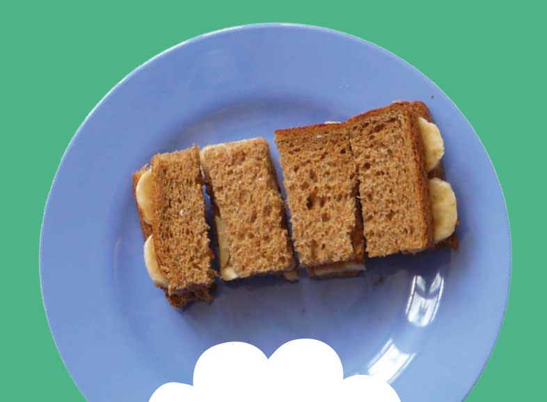 Peanut & Banana Sandwiches with Carrot and Cucumber  Image